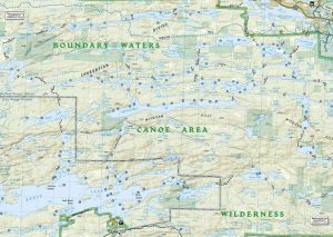 Boundary Waters Canoe Area Maps Planning A Canoe Route - Bwca entry point map