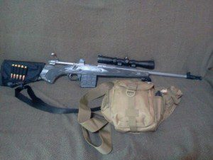 My Ruger Gunsite Scout Rifle all decked out and ready for the field.