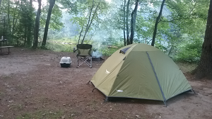 Shortly after I setup my tent, it started to rain and last three days!
