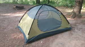 My Luxe Tempo 2 Man Tent - without the rain fly. Plenty of room for me and some gear.