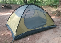 My Luxe Tempo tent without its rain fly attached - before the weekend long downpour!