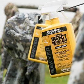Permethrin works great to kill ticks shortly after the come into contact with your treated clothes!