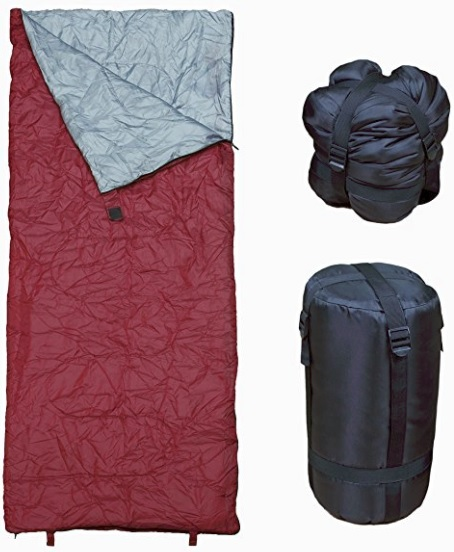 RevelCamp Sleeping bag for those on a budget. Comes in a variety of colors to choose from.
