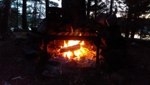 A nice little campfire in a wilderness setting is mesmerizing.