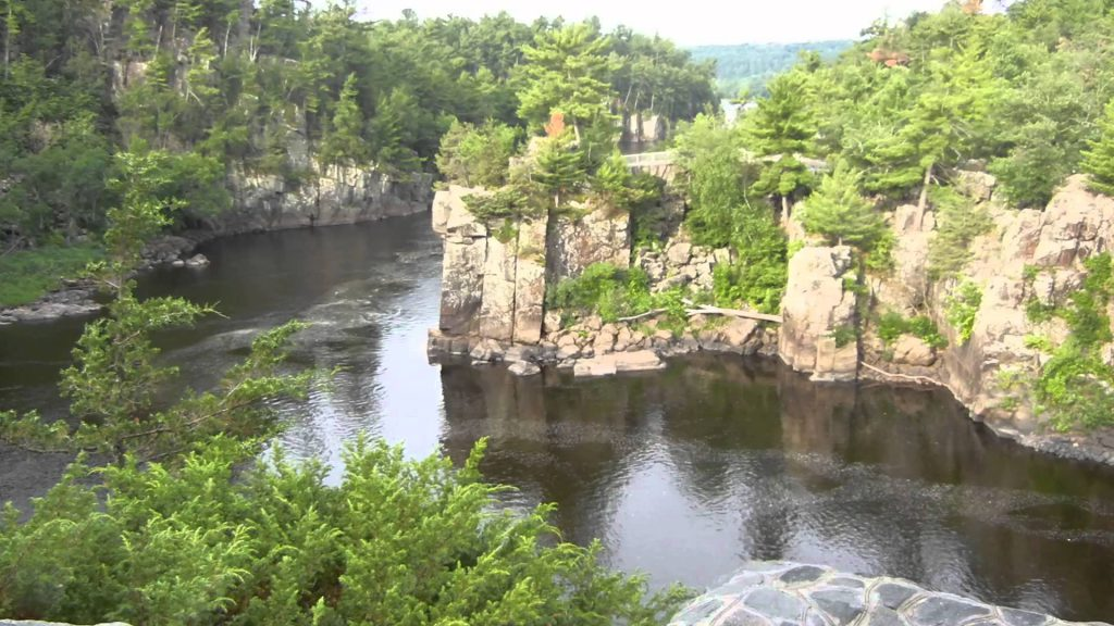 One of the many impressive views from Interstate Park, Wisconsin. That's the St. Croix River south of St. Croix Falls.