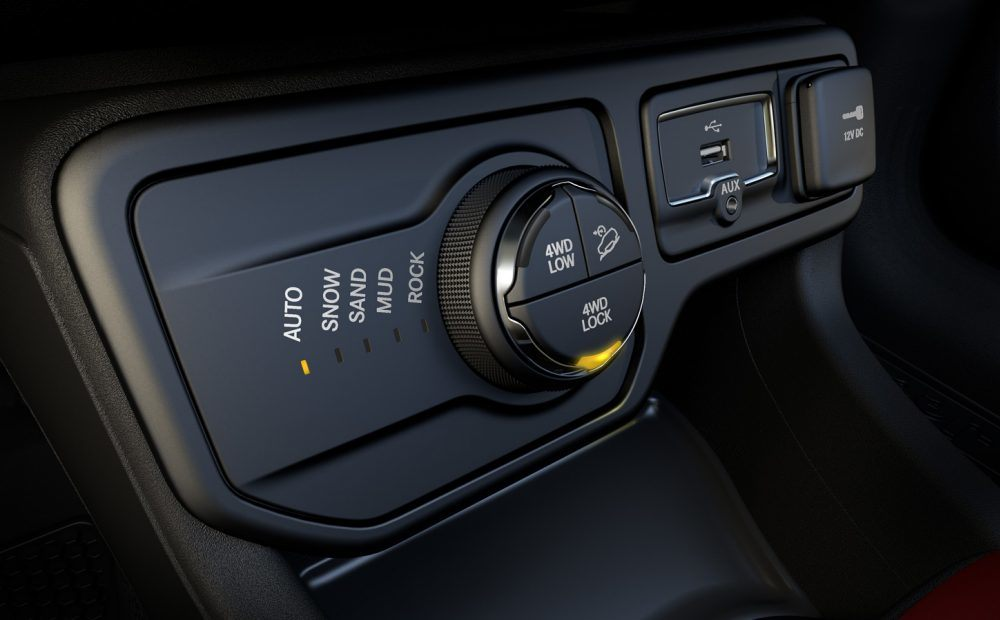 I can control my 4 wheel drive, locking it in if I want to keep it activated.
