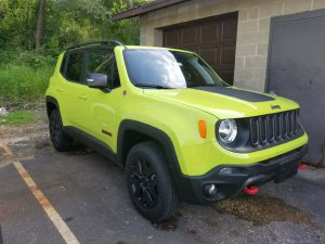 My new 2018 Jeep Renegade Trailhawk... I have no idea where I took this picture, but it was on my phone.