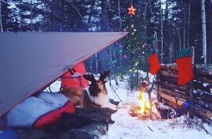 Matthew Posa Adventures; wilderness winter camping with a Christmas theme.