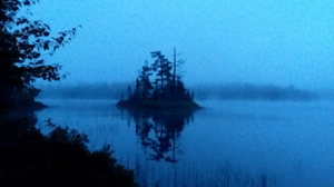 The typical view from my base-camp in the Boundary Waters Canoe Area. Rain and more rain.