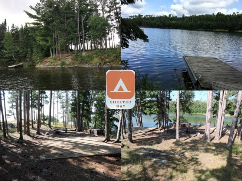 Shelter Bay, A campsite in Voyageurs National Park. Picture from the VNP campsite page.