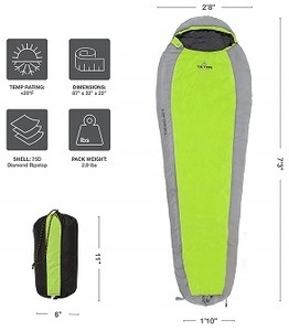 Teton 3 season light sleeping bag