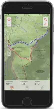 Garmin Earthmate App on smart phone, bluetooth links to the inReach SE+