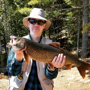 Me with one of the Lake Trout I caught.