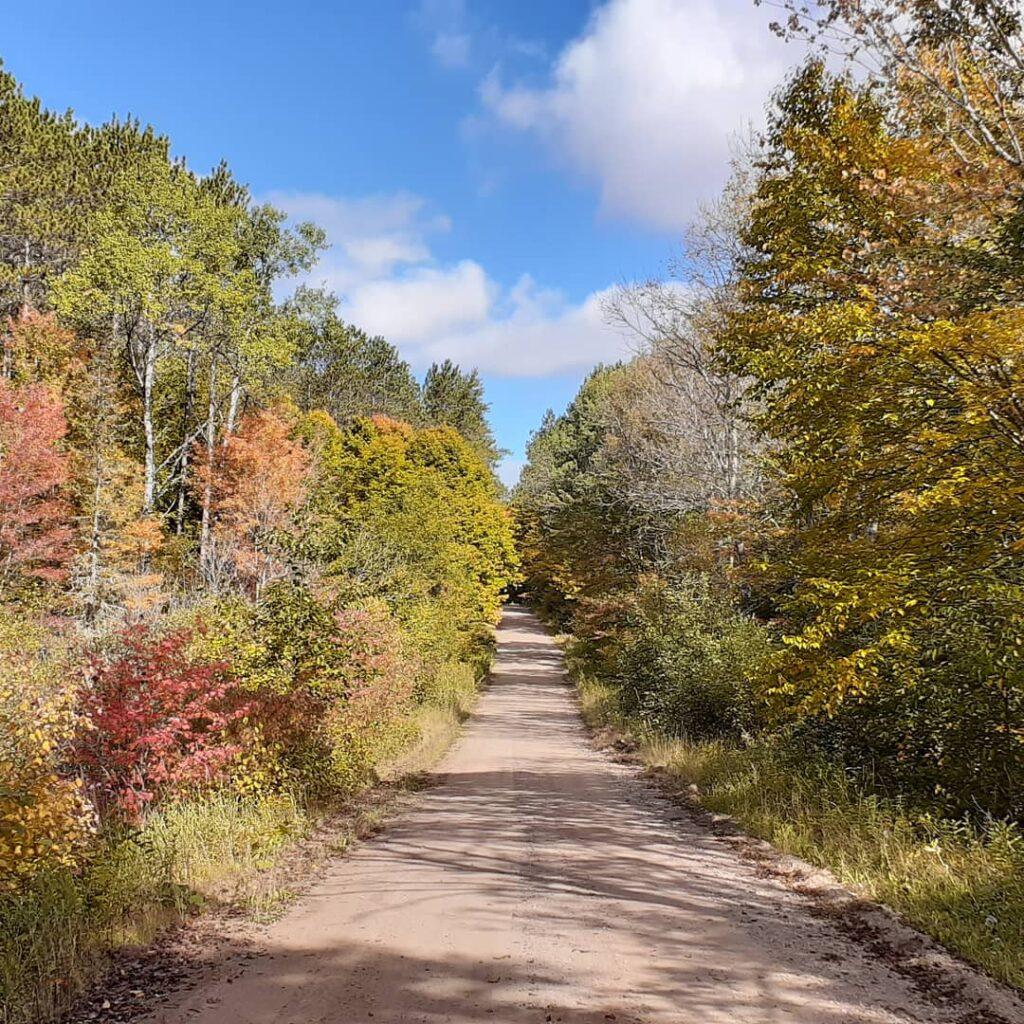 The Trans Wisconsin Adventure Trail near Stockfarm Bridge Campsite, Chequamegon-Nicolet National Forest