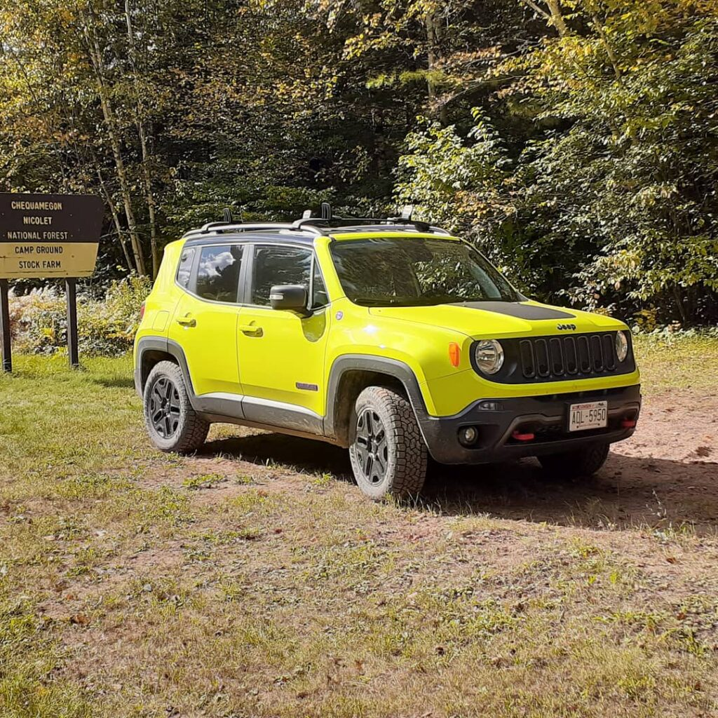 My 2018 Jeep Renegade Trailhawk, stock vehicle except for the Toyo Open Country A/T III 225/65/17 tires